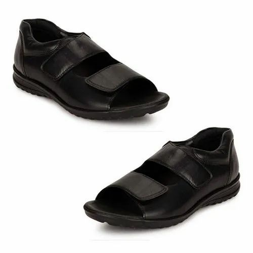 1bd2b57059 Leather Mens Velcro Closure Orthopedic Diabetic Sandals, Rs 1550 ...