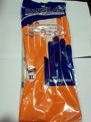 Latex Rubber Orange Industrial Gloves