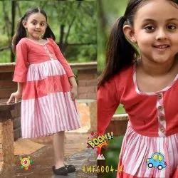 Casual Wear Girl designer kids wear, Age: 4-10year