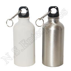 White, Silver Sublimation Bottle White And Silver 400ml
