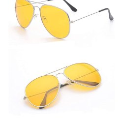 Yellow lens aviator style sunglasses for mostly used for night drive sunglass. Beet designer sunglas