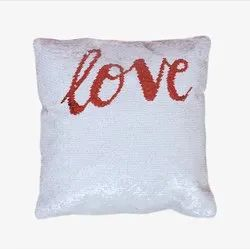 Square Red Love Magic Cushions Sublimation Printable Blanks Light Decorative  Blind Zipper Gift