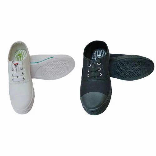 Boys Black \u0026 White School Shoes, Size