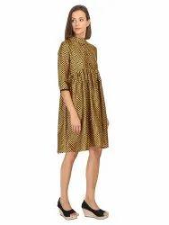 Women Fashionable Synthetic Soft-Silk Dress