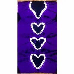 Pure Cotton Royal Tie Dye Ladies Nighty Fabric, Digital Prints, Blue
