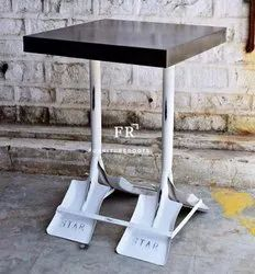Industrial Pipe Furniture - Metal Industrial Square Cafe Table