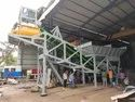 Compact Concrete Batching Plant with Pan Mixer