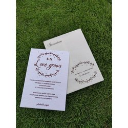 Single Fold Insert Royal Plantable Seed Paper Wedding Cards Rs 30