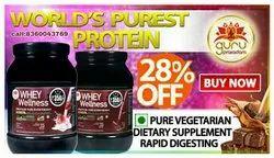 Wellness Whey Protien By Guruprasadam, Pack Size: 500gm