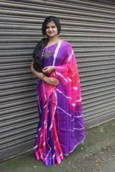 Tie-Dye Print Kota Saree