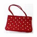 Red Casual Wear Ladies Fancy Handbag