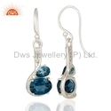 London Topaz Stone Fine Silver Earrings