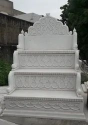 White Carved Marble masjid Mimber