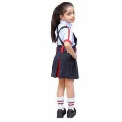 Summer Cotton Girls School Uniform, Packaging Type: Packet