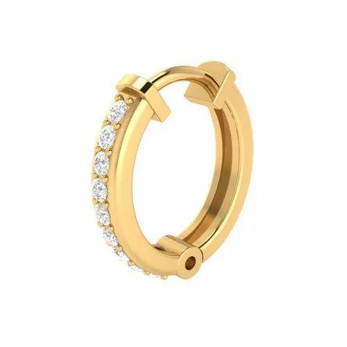 14k Gold Diamond Nose Ring At Rs 6459 Piece Andheri East Thane
