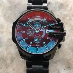 Analog Black Diesel Mega Cheif Mens Watch, Model Name/Number: Dz4398