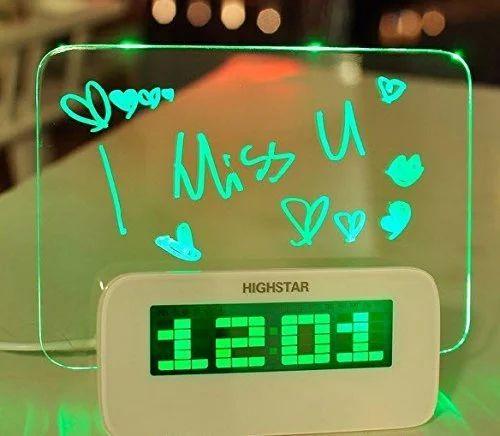 Digital Green LED Message Desk Table Digital Alarm Clock