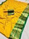 Beautiful Jacquard Weaving Cotton Silk Saree