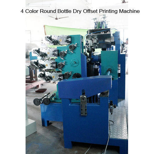 Automatic 4 Color Round Bottle Dry Offset Printing Machine, Voltage: 440 V