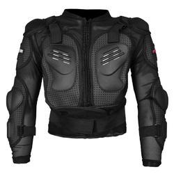 Black Faux Leather Riding Safety Jacket