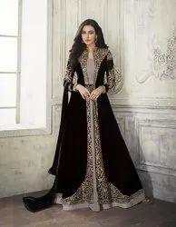 Ethnic Chiffon Ladies Gown, Size: Medium
