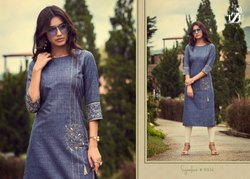 Cotton Embroidery Kurti With Pant For Ladies
