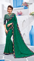 Green Color Georgette Saree