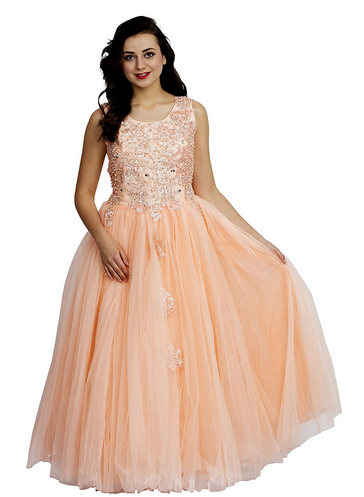 33660309794f Womens Peach Beautiful Party Gown at Rs 7599  piece