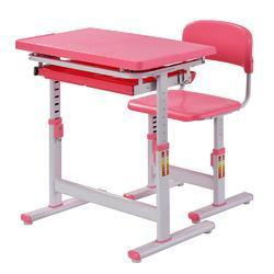 Pink Color Coated Kids Desk