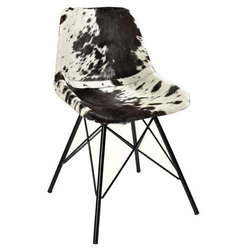 Pranshi Handicrafts Iron Leather Chair For Home And Office