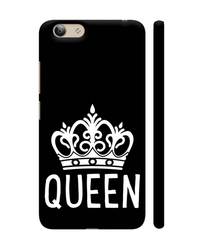 Colorpur White Queen Crown On Black Artwork On Vivoy53 Cover At Rs