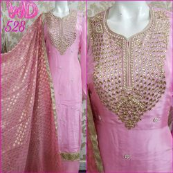 Silk Party Wear Suits W-528
