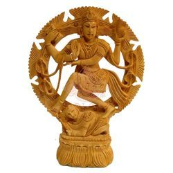 Natural Wooden Natraj Statue