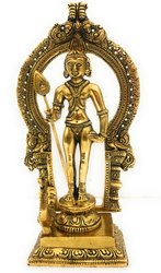 Gold Plated Lord Murugan Statue