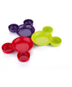 Mickey Shaped Kids/Snack Serving Sectioned Plates