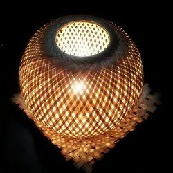 Bamboo Round Table Lamps