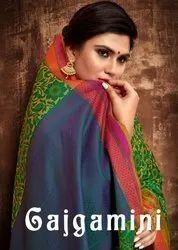 YNF Gajgamini Silk Tanchui Art Silk Saree Catalog Collection