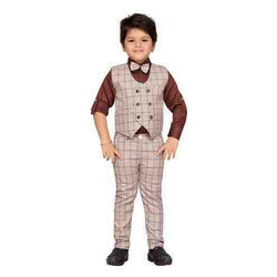 Boys Blended Cotton Party Wear Suit