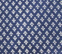 Small Flower Indigo Blue Dabu Print 100% Cotton Fabric