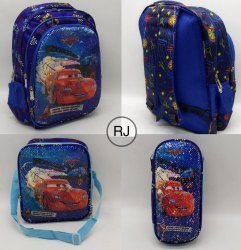 School Bag For Kids With Lunch Box & One Pouch (Set Of 3)