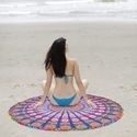 72 Round Beach Throw Tapestry