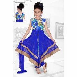Georgette Printed Girls Churidar Suit