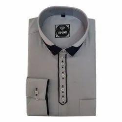 Stone Mens Collar Cotton Formal Shirt