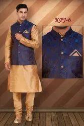 Boys Kurta Pajama Jacket for Diwali