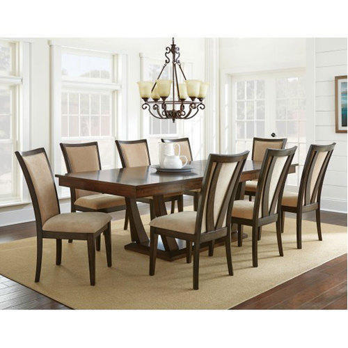 8 Piece Dining Room Sets: 20*80*76 Inch Modern 8 Seater Dining Table Set, Rs 55000