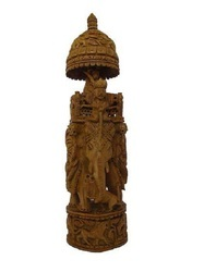 Elephant Wood Carving Sculpture