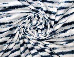 Blue Block Print Handmade Tie Dye Voile Fabric, GSM: 50-100 GSM