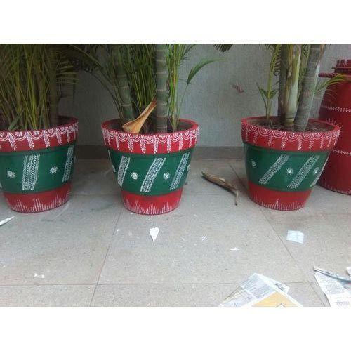 225 & Hand Painted Flower Pot