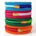 Handcraft Party Wear Silk Thread Bangles, Round, Packaging Type: Box