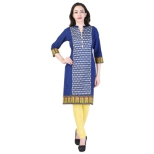 Ladies Cotton Blue Kurti
